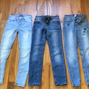3 Justice Jeans girls